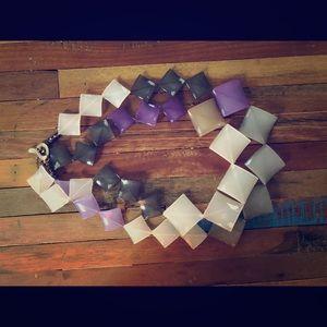 Anthropologie Purple Ombré Statement Necklace
